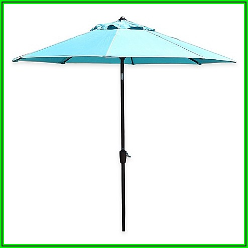9 Ft Teal Patio Umbrella