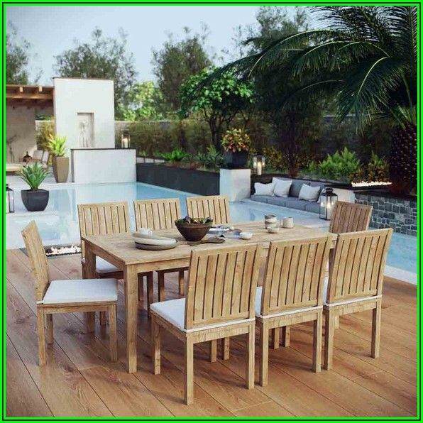 9 Piece Teak Patio Dining Set