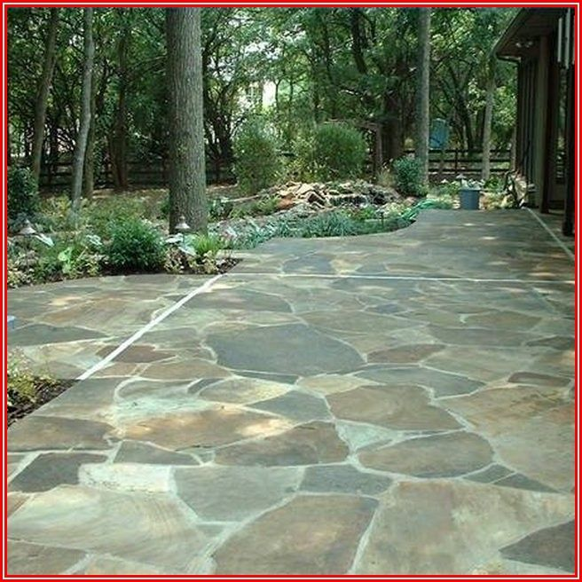 Acid Wash Stone Patio