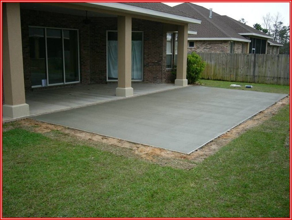 Adding On To Concrete Patio