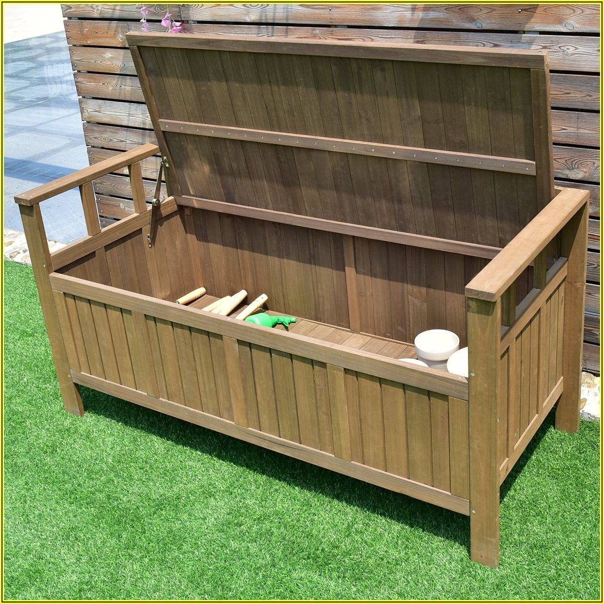 All Weather Outdoor Patio Storage Bench