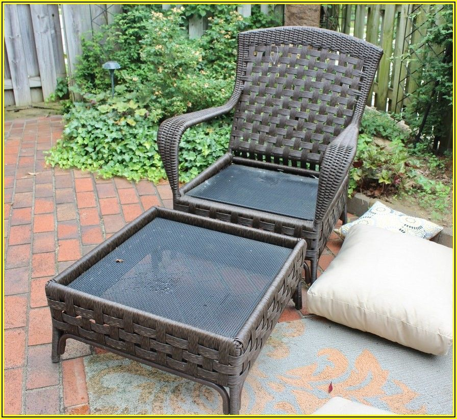 All Weather Resin Wicker Patio Recliner