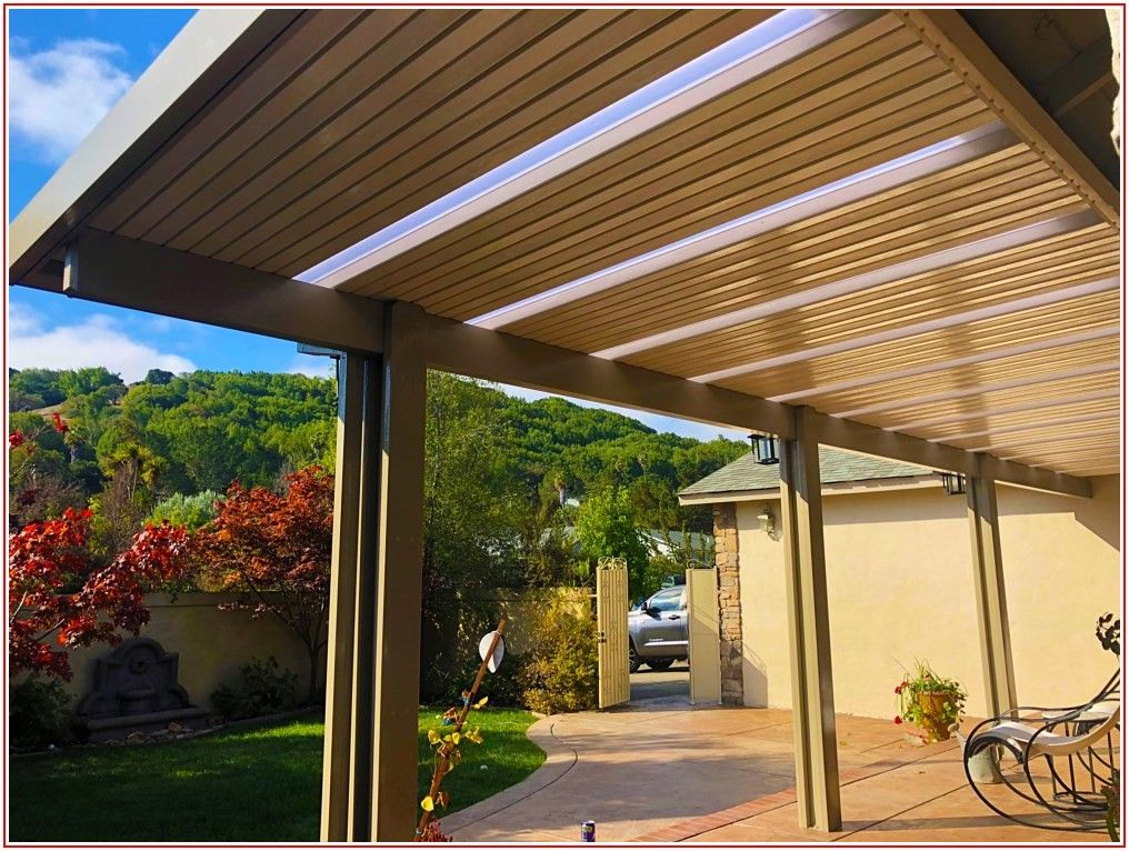Aluminum Flat Panel Patio Cover