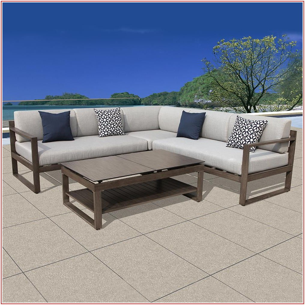 Aluminum Frame Patio Sectional