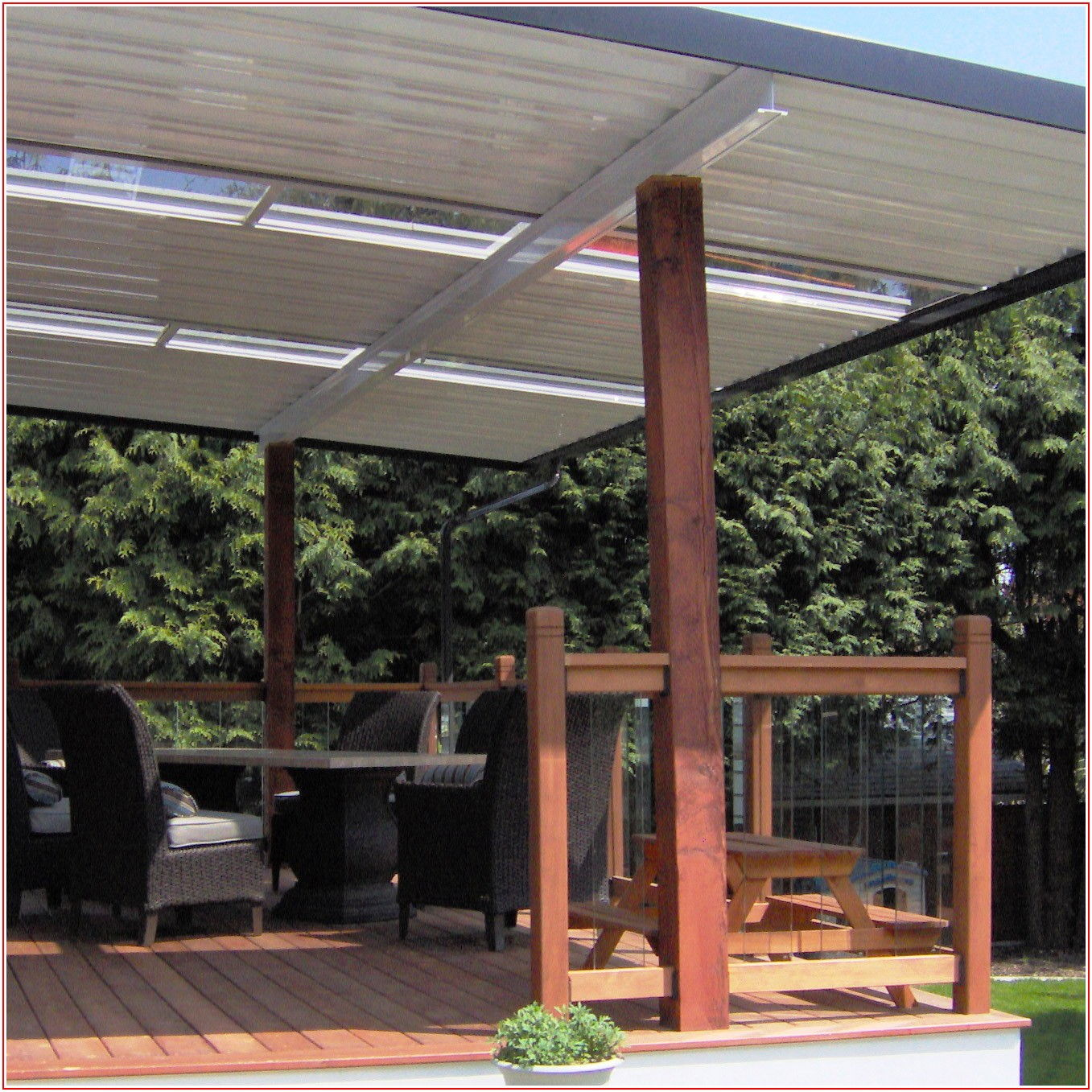 Aluminum Patio Cover With Skylights