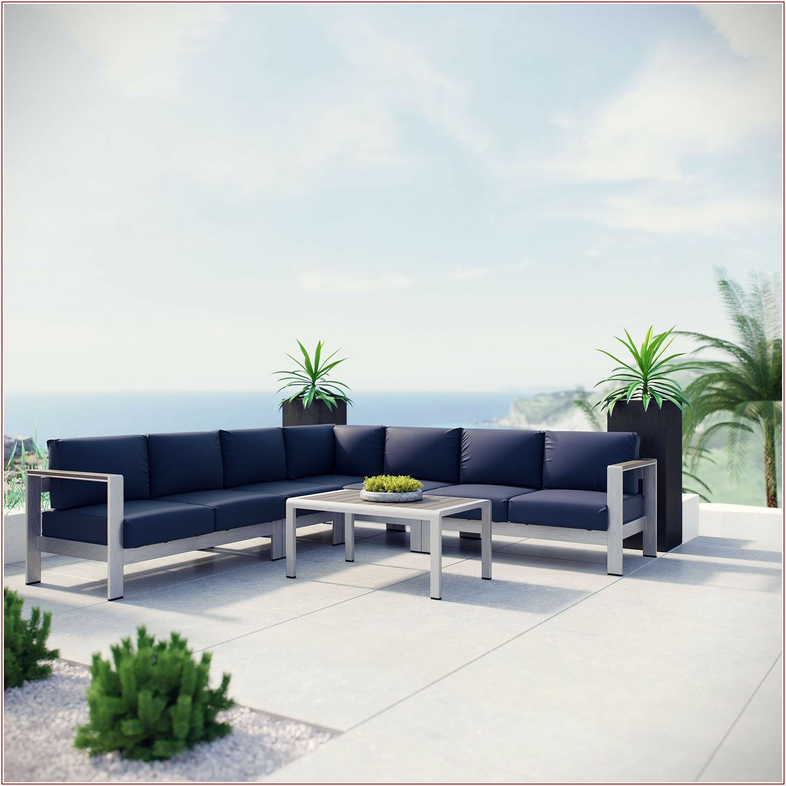 Aluminum Patio Sofa Set