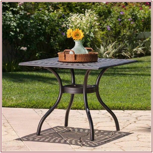 Aluminum Patio Table With Umbrella Hole