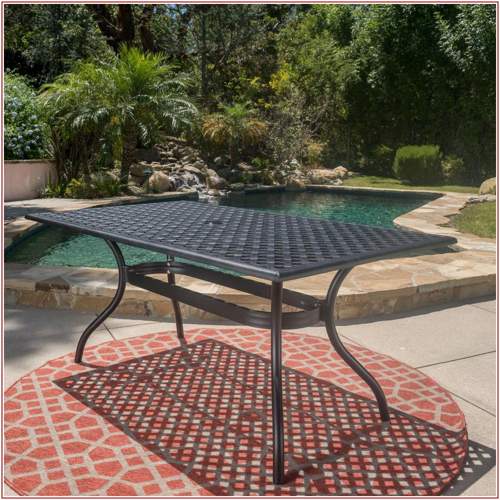 Aluminum Rectangle Patio Table