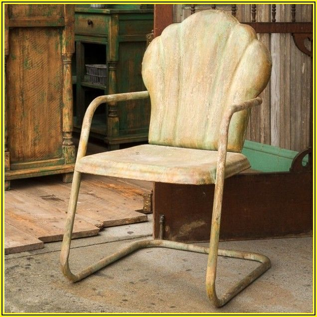 Antique Metal Patio Chairs