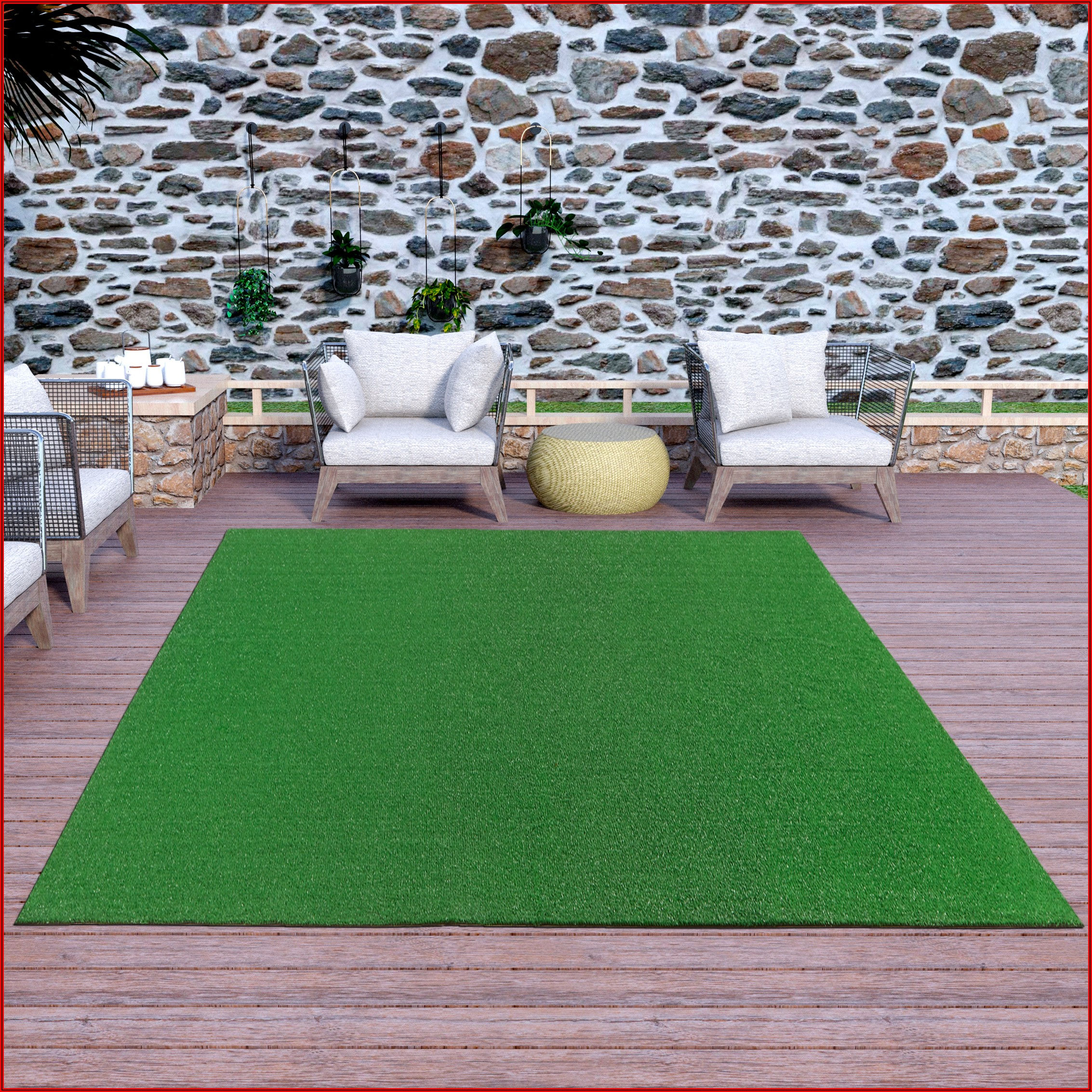 Artificial Turf On Patio