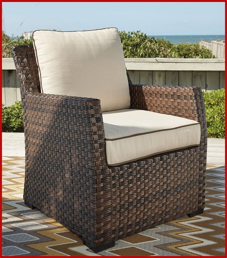 Ashley Furniture Salceda Patio Sectional And Chair