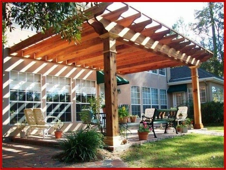 Attach Pergola To Concrete Patio