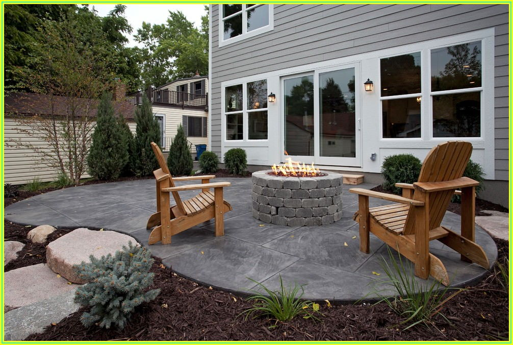 Back Patio Concrete Ideas