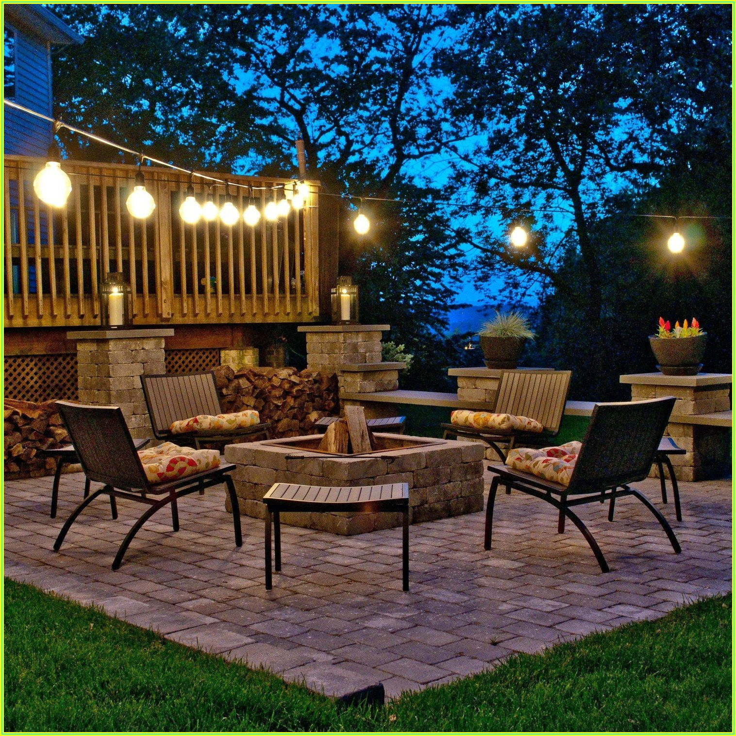 Back Yard Patio Lighting Ideas