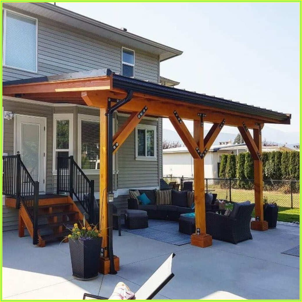 Backyard Roof Covered Patio Ideas