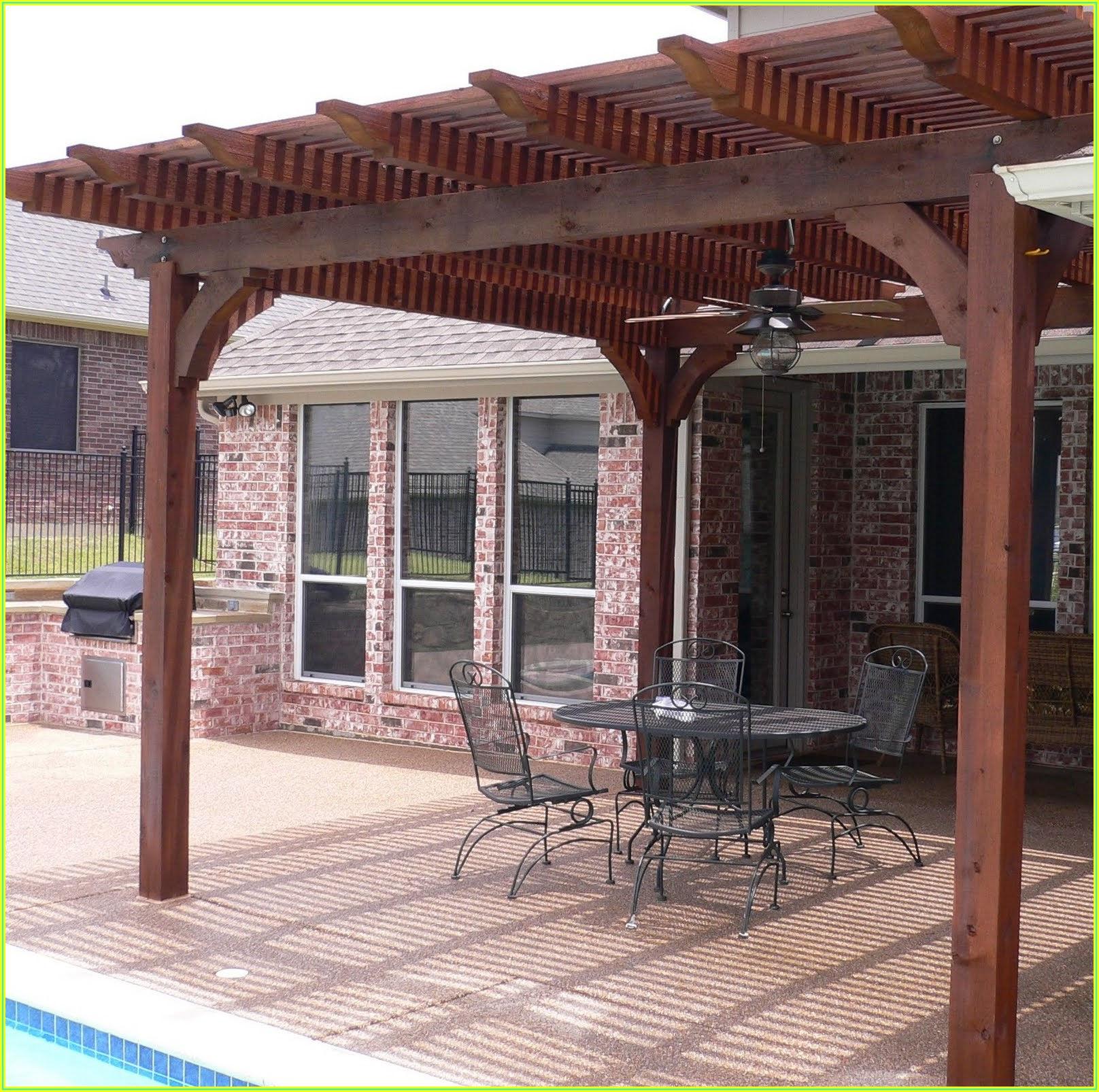 Backyard Wood Patio Cover Ideas