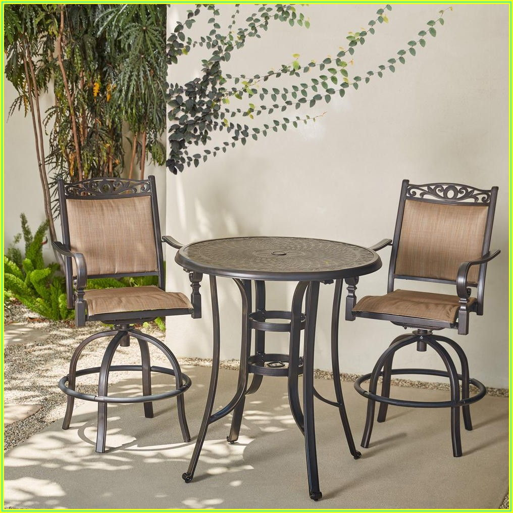 Balcony Height Bistro Patio Set