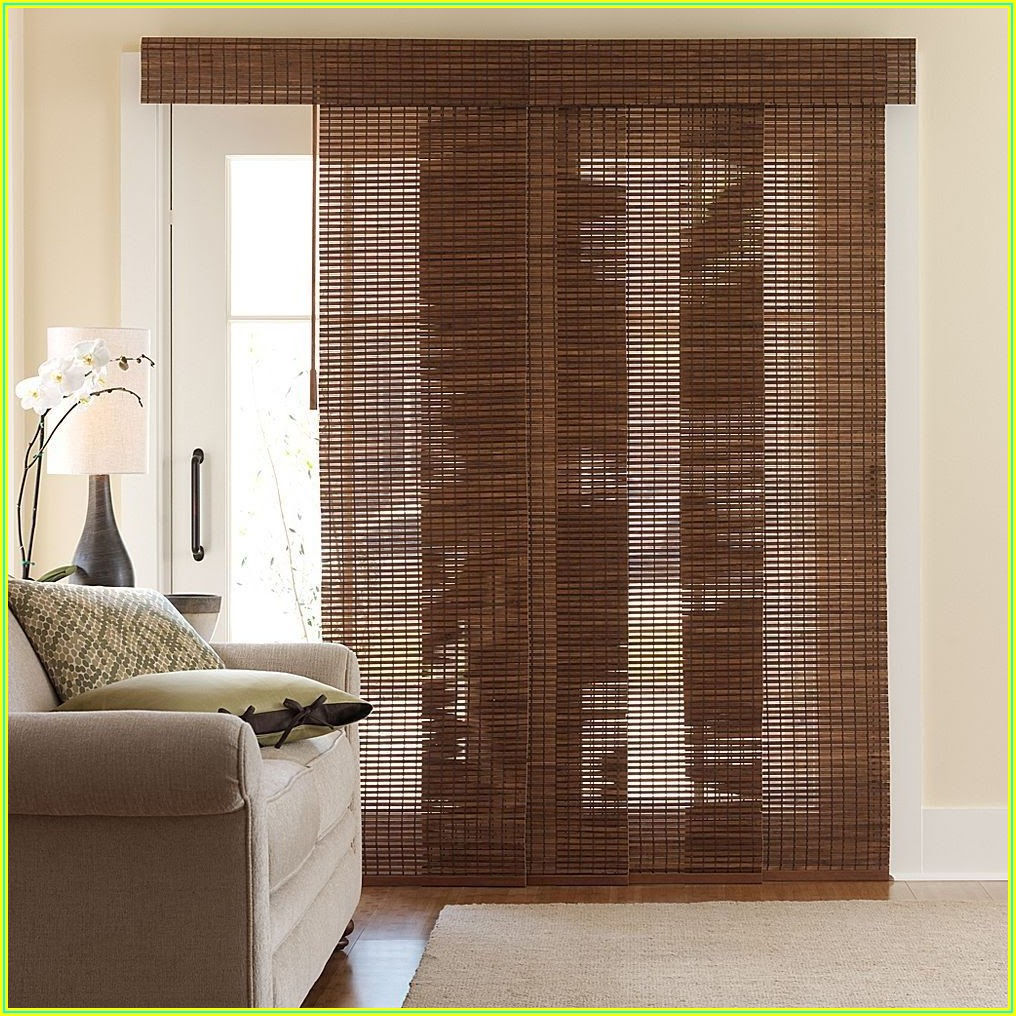 Bamboo Patio Door Panels