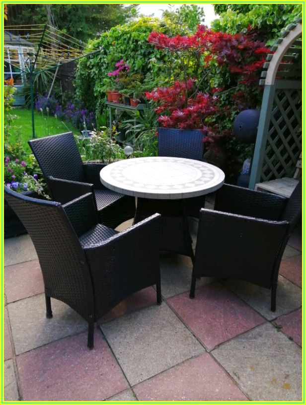 Bamboo Patio Table And Chairs