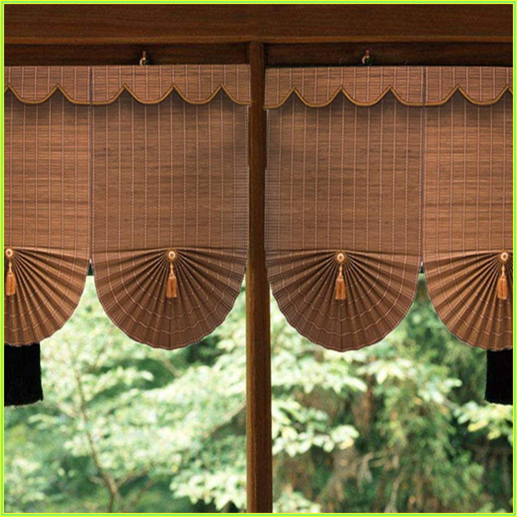 Bamboo Roll Up Blinds For Patio Doors