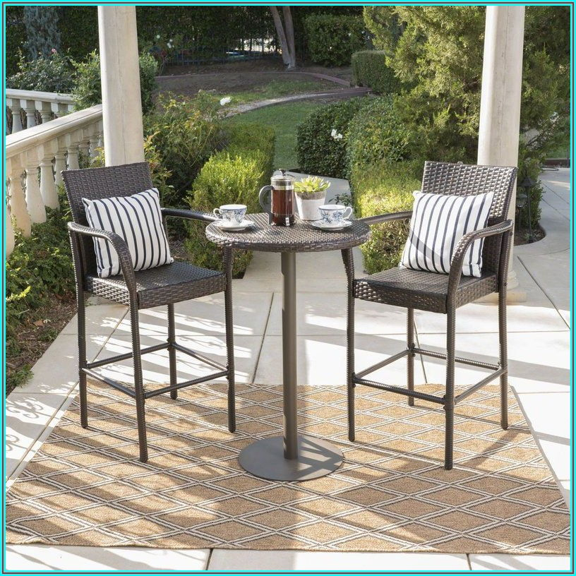 Bar Height 3 Piece Patio Furniture Set