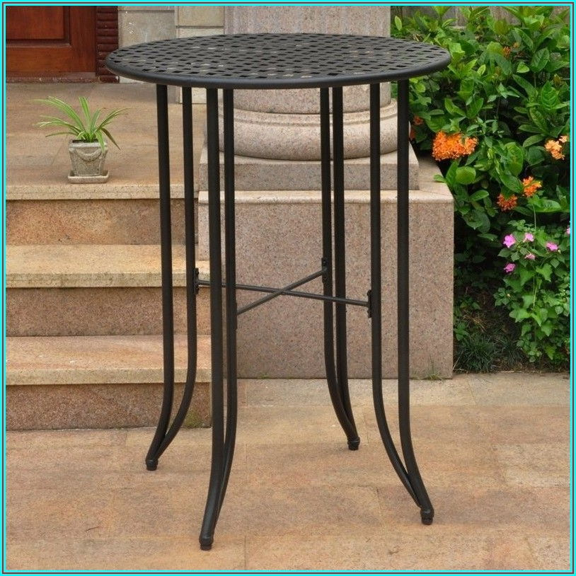 Bar Height Metal Patio Table