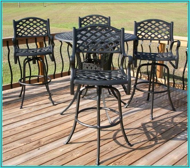 Bar Height Wrought Iron Patio Furniture