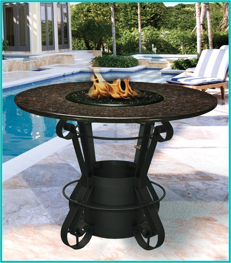 Bar Top Patio Set With Fire Pit