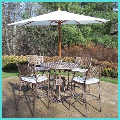 Bar Top Patio Set With Umbrella