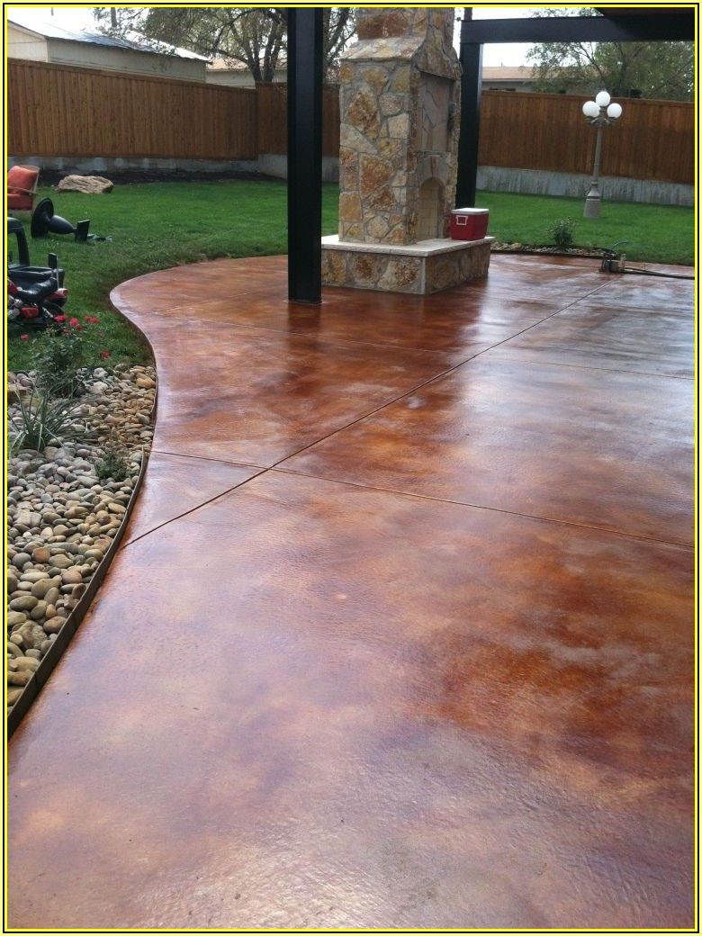 Best Stain For Concrete Patio