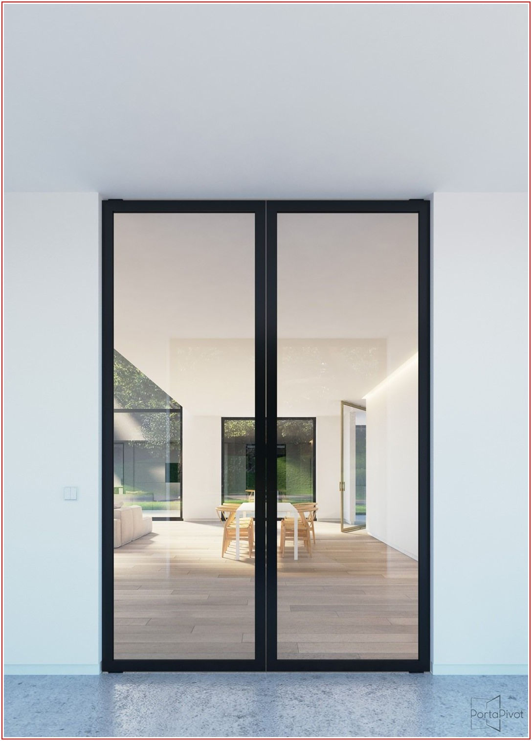 Black Aluminium Sliding Patio Doors