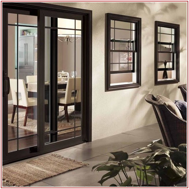 Black Aluminum French Patio Doors