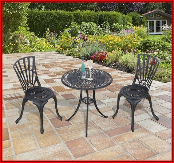 Black Aluminum Patio Table And Chairs