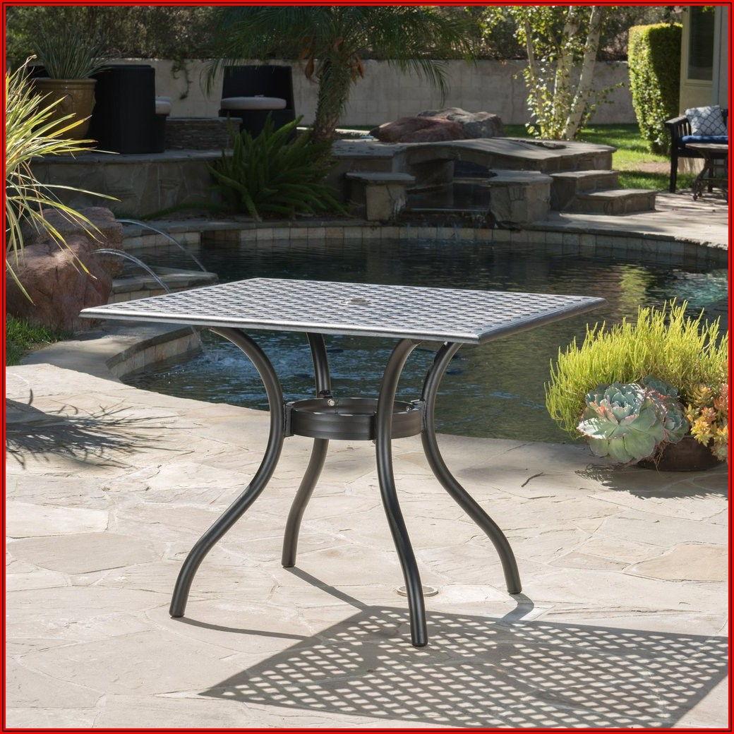 Black Aluminum Patio Table