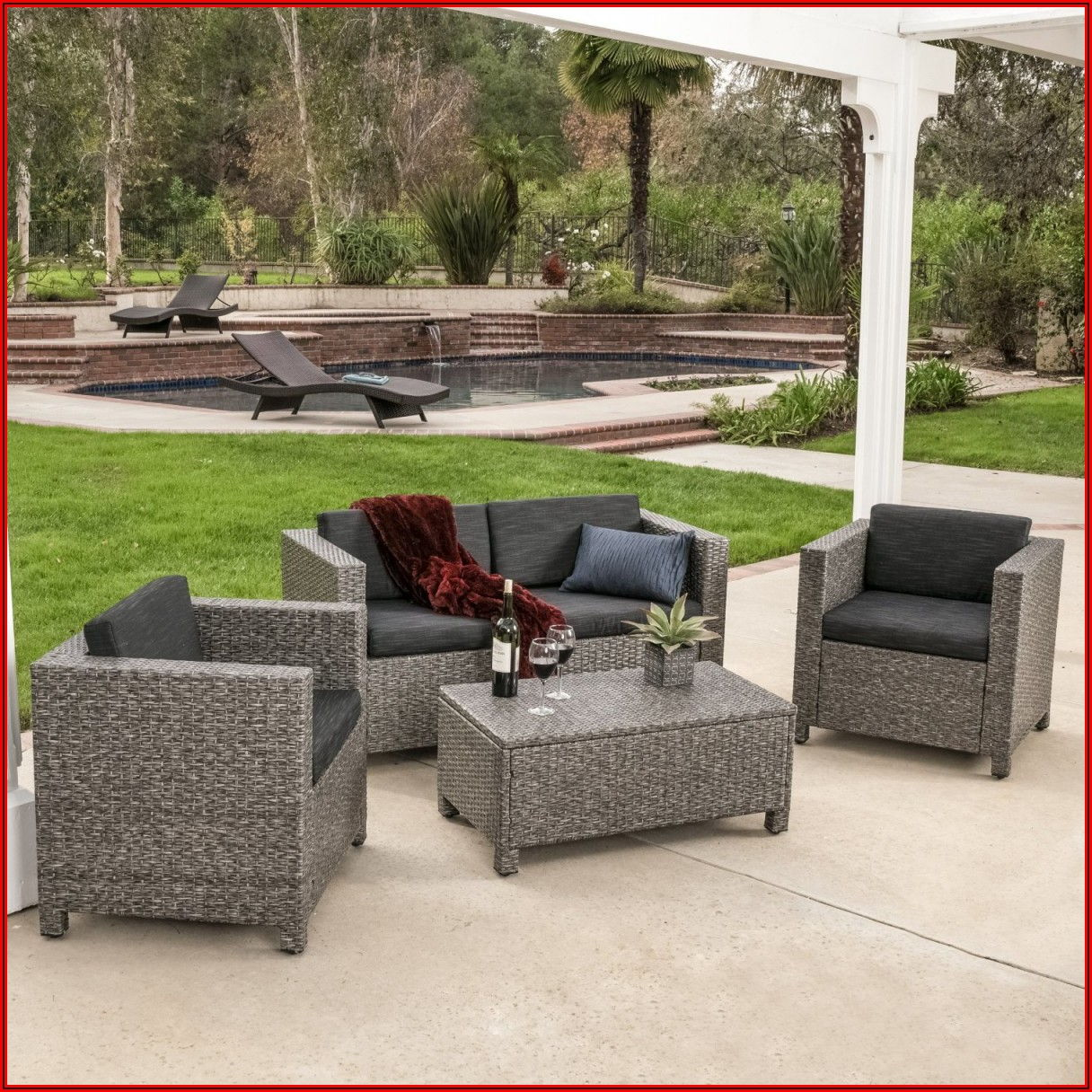 Black And Grey Patio Furniture