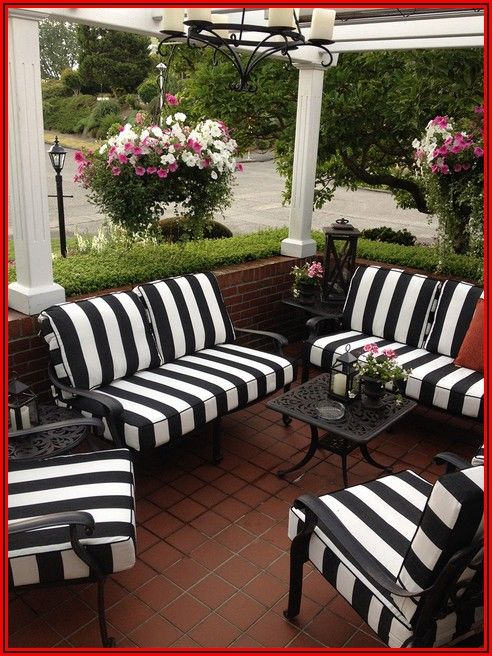 Black And White Patio Pillows
