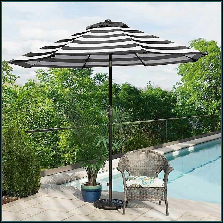 Black And White Patio Umbrella