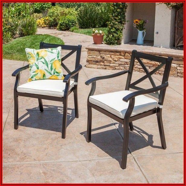 Black Cast Aluminum Patio Chairs