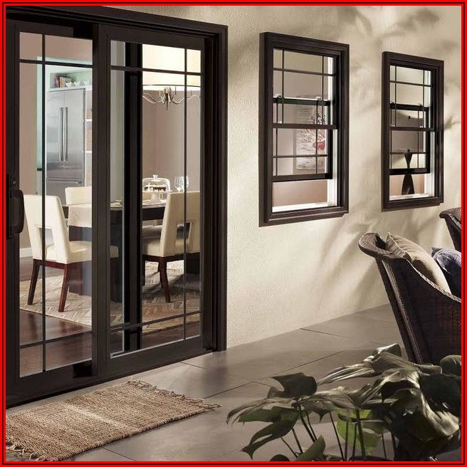 Black Frame Sliding Patio Doors