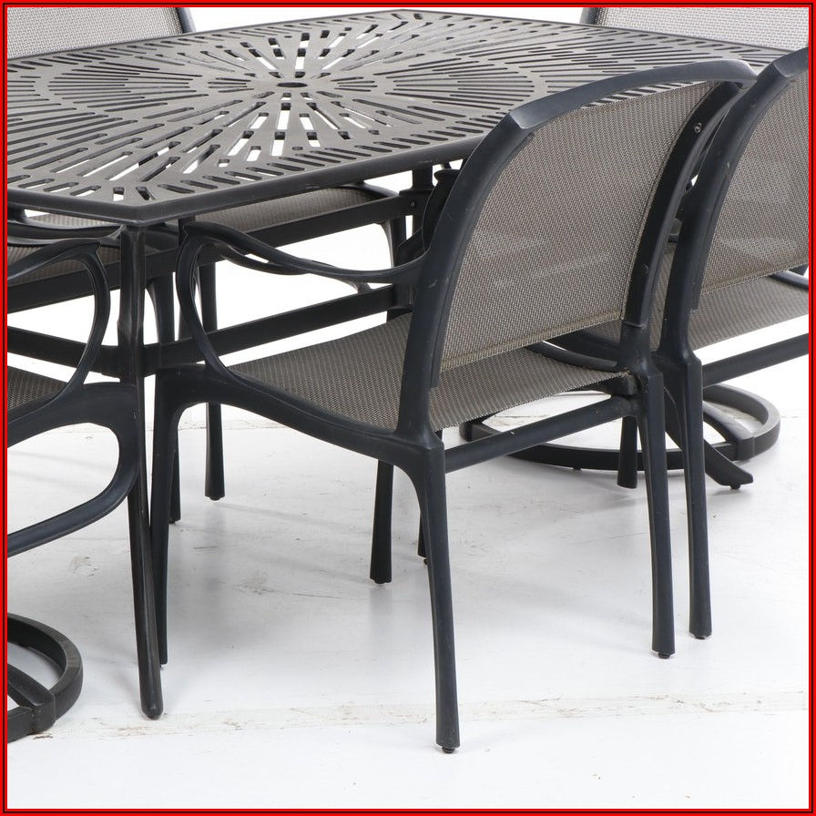Black Iron Patio Table And Chairs