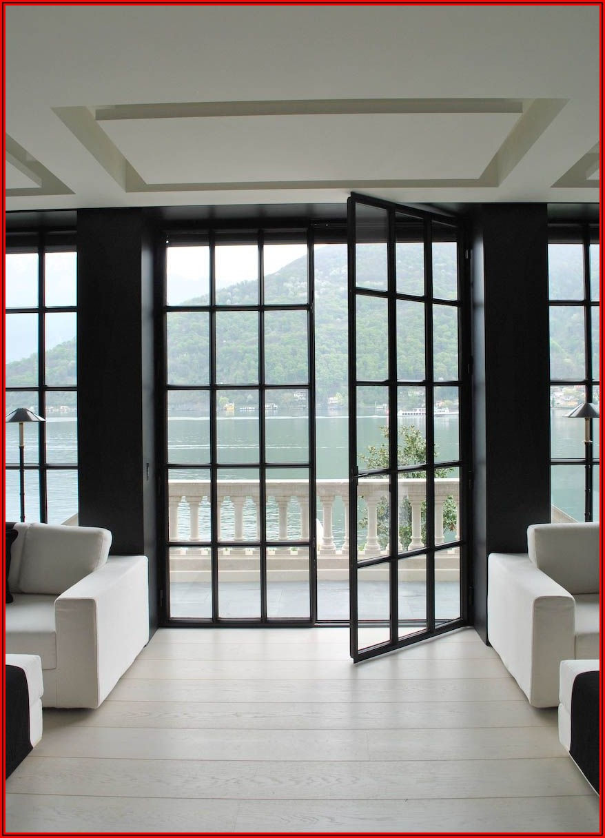 Black Metal Frame Patio Doors