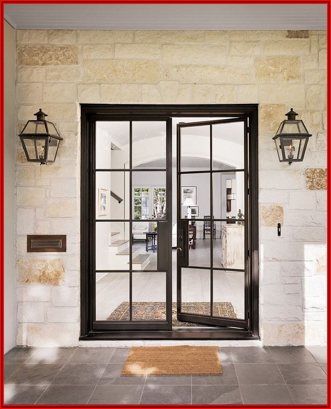 Black Metal Patio Doors