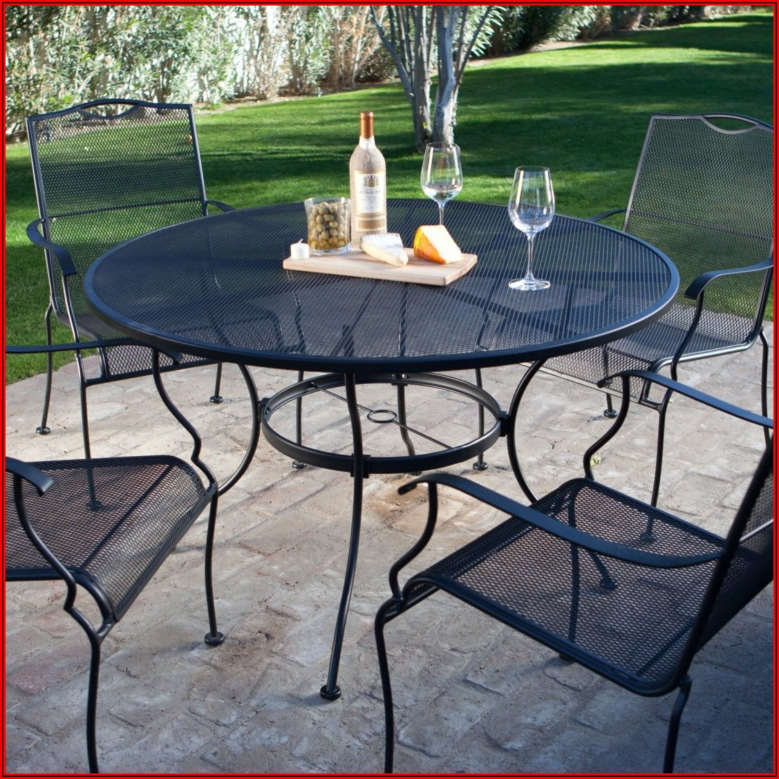 Black Metal Patio Furniture Set