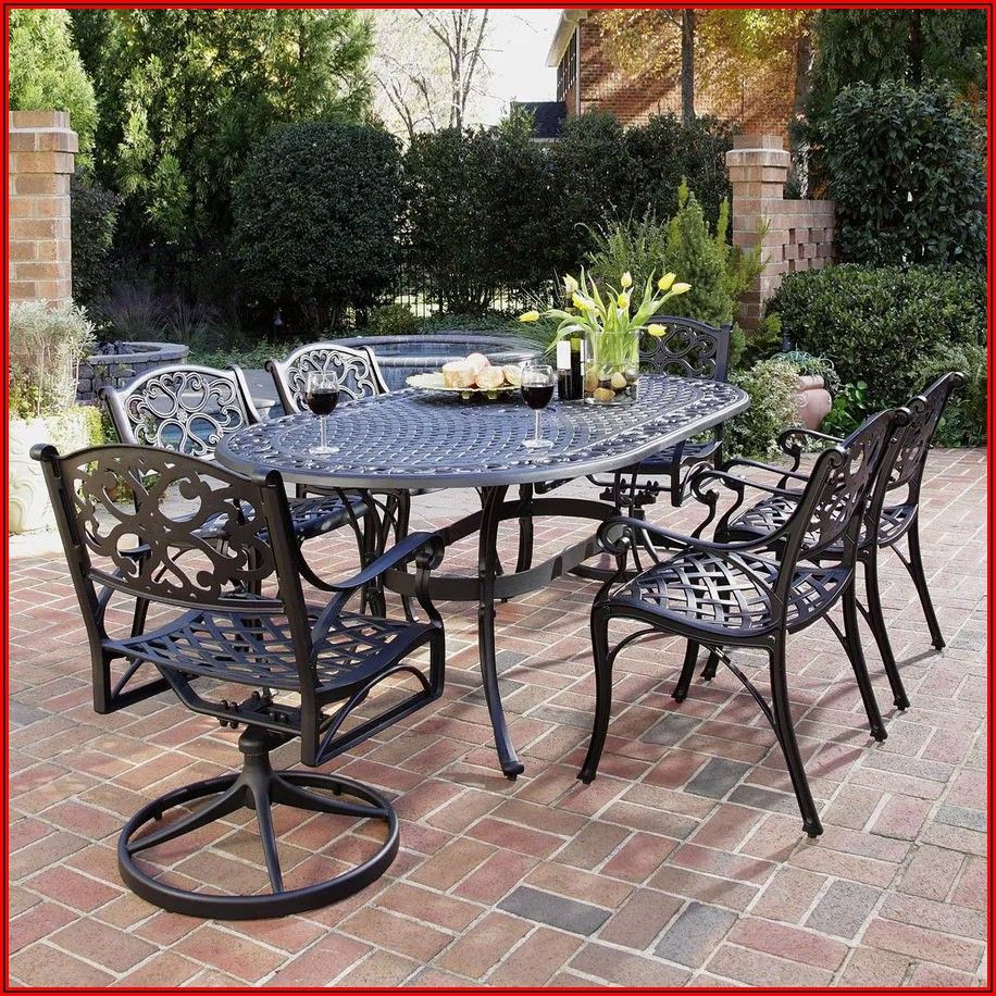 Black Metal Patio Table And Chairs