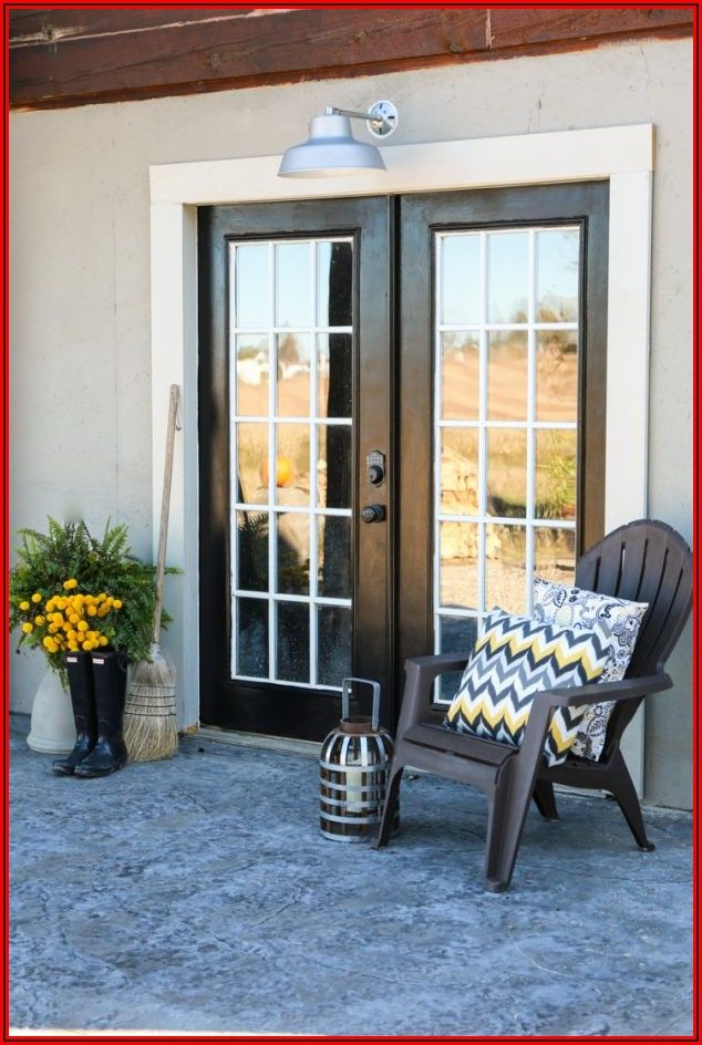 Black Patio French Doors