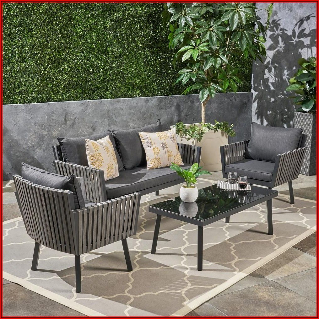 Black Patio Furniture Set