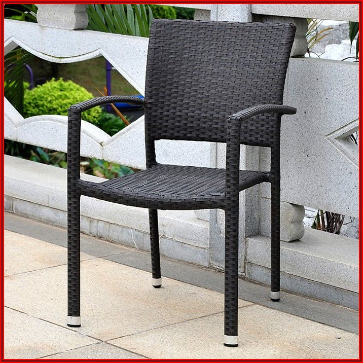 Black Rattan Patio Chairs