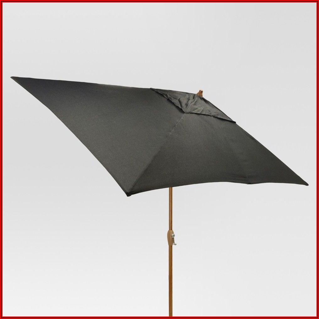 Black Rectangle Patio Umbrella