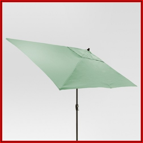 Black Rectangular Patio Umbrella