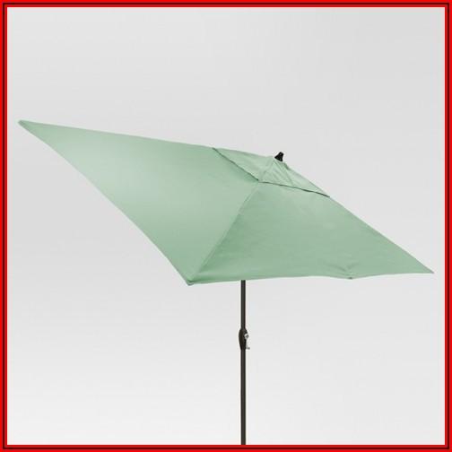 Black Rectangular Patio Umbrella